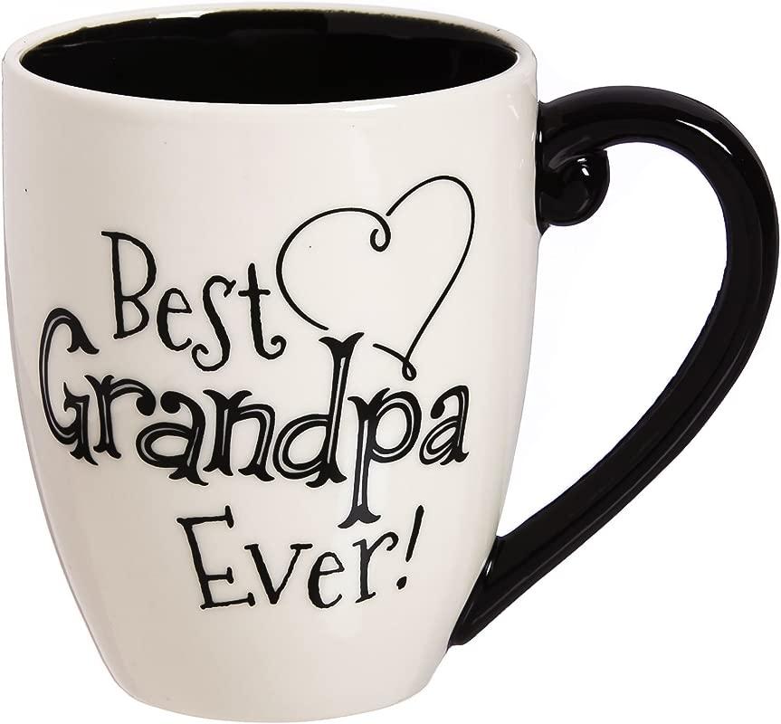 Grandpa 18 OZ Black Ink Ceramic Cup O Joe 4 X 5 X 6 Inches