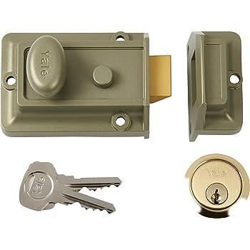 Yale Locks P77 Traditional Nightlatch ENB//PB Cylinder 60 mm Backset Visi Pack