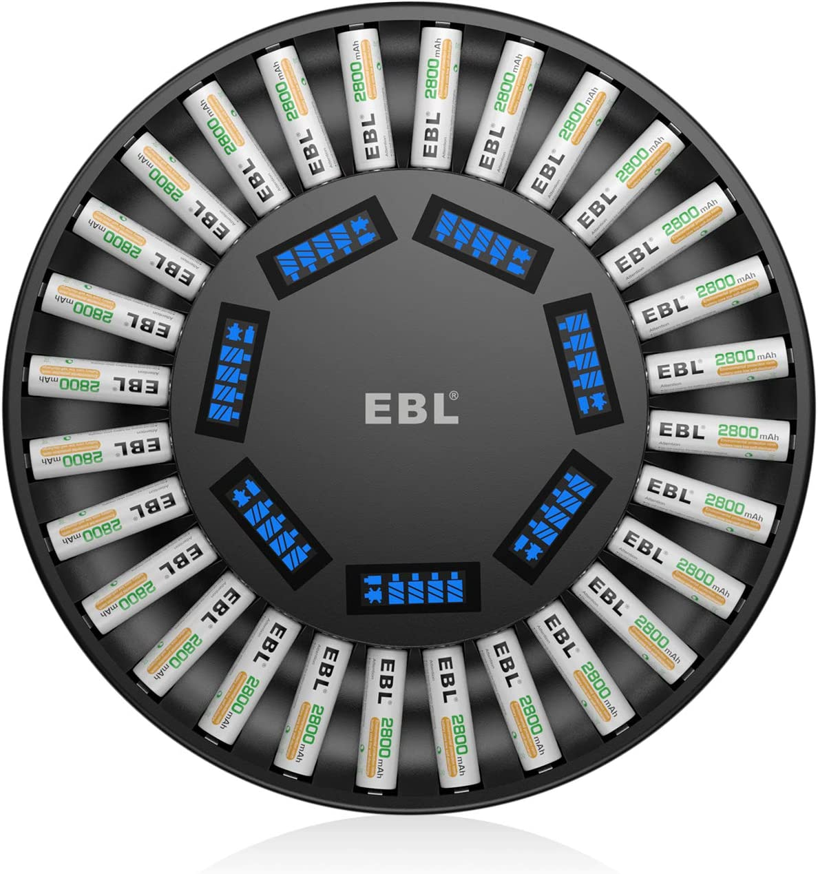 EBL Special price for a limited time 28Slot Battery Charger for 1 Save money 2 Rechargea AA AAA 28 pcs 3..27
