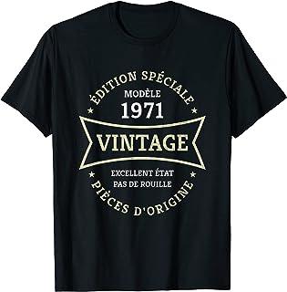 Vintage 50e anniversaire Né en 1971 Vintage 50 ans Cadeau T-Shirt