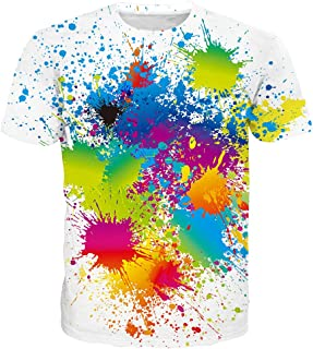 Unisex 3D Pattern Printed Short Sleeve T-Shirts Casual Graphics Tees