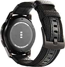 Galaxy Watch 46mm Bands, Maxjoy Gear S3 Frontier Classic Nylon Band, 22 mm Quick Release Replacement Strap Large Sport Wristband with Metal Buckle Compatible Samsung Gear S3 Smart Watch, Black