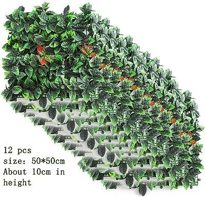 ZYFA Jardín Vertical plástico Pantalla de Cerca de privacidad -Decoración de Muebles Pared de Fondo - Pared de Planta Artificial, Pared de Flores de Boda, Pantalla Tridimensional Decoración de Techo: Amazon.es: Hogar
