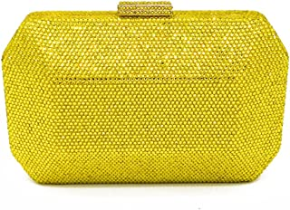 NEW YELLOW FAUX SUEDE BOX EVENING CLUTCH BAG WEDDING PARTY PROM CLUB SHOULDER
