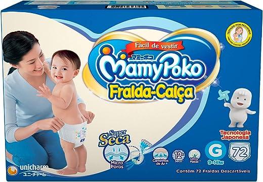 Fralda-Calça MamyPoko Tamanho G, 72 unidades