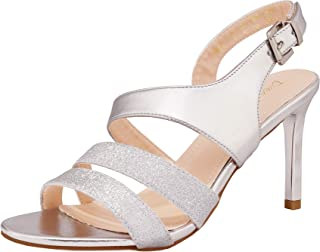 Women's Stiletto Wedding Heels Glitter Dress Pumps Heeled Sandals