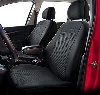 con Fori per i poggiatesta e bracciolo Laterale Coprisedili Anteriori Neri Punto Grande Versione compatibili con sedili con airbag 2005-2011