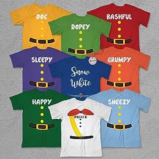 7 Dwarfs Halloween Costume Snow Princess Prince Cosplay Group Family Matching Pajamas Shirt Customized Handmade Hoodie/Sweater/Long Sleeve/Tank Top/Premium T-shirt