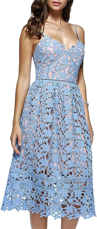 CiuCoo Women Straps Sleeveless Zipper ALine Retro Dresses Summer Party Dress