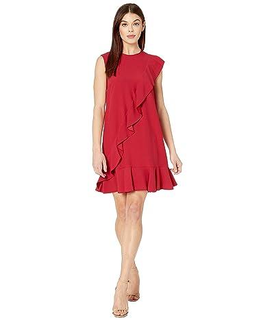 RED VALENTINO Ruffle Satin Crepe Dress (Ribes) Women