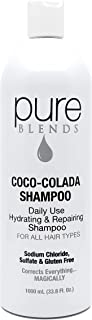 Pure Blends Coco-Colada Daily Use Hydrating Repairing Shampoo 33.8 Ounce - Salon Quality