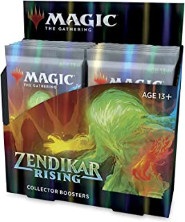 Magic: The Gathering Zendikar Rising Collector Booster (12 Packs) & 2 Box Toppers