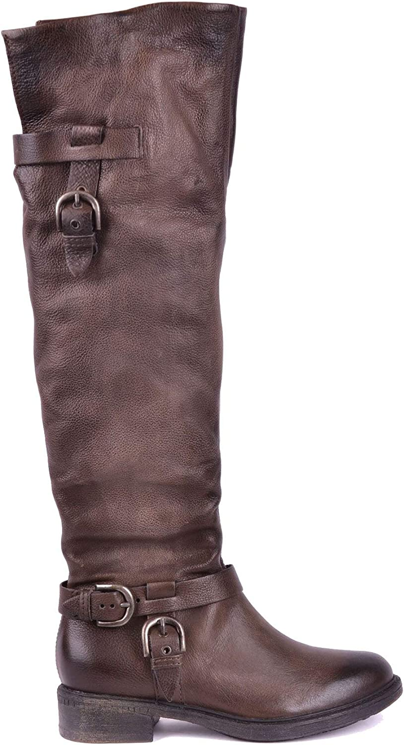 Mjus Women's MCBI17375 Brown Leather Boots