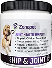 Glucosamine for Dogs Improves Joint Flexibility: Revitalizing Your Dog's Joints & Cartilage & Renews Puppy-Like Playfulness: Our Dog Joint Supplement Powder Helps Soothe Inflammation