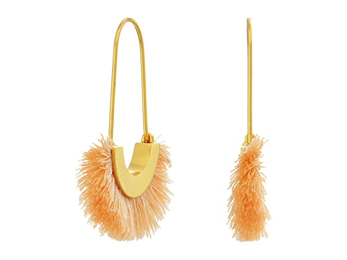 Madewell  Arc Wire Fringe Earrings (Peach Cream) Earring