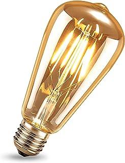 Ampoule LED Edison, Samione Rétro Décorative Ampoule E27 Vintage Lampe Antique Blanc Chaud 4W LED Ampoule, Idéal pour Caf...