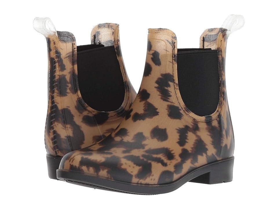 Joules Kids Rockinghan PVC Chelsea Boot (Toddler/Little Kid/Big Kid) (Dark Leopard) Girls Shoes