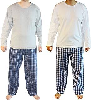 Haigman Mens Cotton Long Pyjama Lounge Wear (Pack of 2)