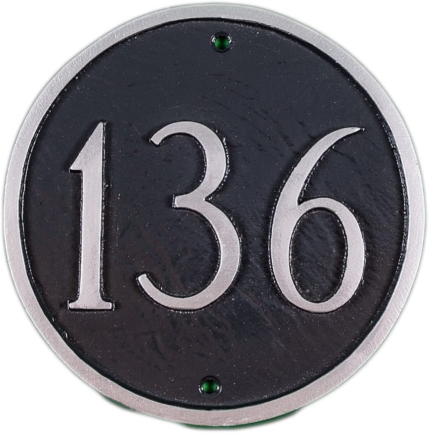 Montague Metal Products Super-cheap 15-Inch Circle Plaque Large Inexpensive Address