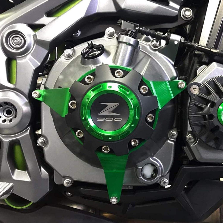YSHUAI Moto Droite Moteur Stator Cas Aluminium Plug Embrayage Couvercle Cadre Protecteur pour Kawasaki Z900 2017 2018,Gris