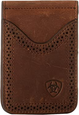 Ariat Ariat Shield Perforated Edge Money Clip