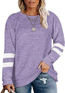 Sponsored Ad - DOLNINE Plus Size Sweatshirts for Women Long Sleeve Oversized Tunic Tops
