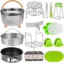 Aiduy 18 pieces Pressure Cooker Accessories Set Compatible with Instant Pot 6,8 Qt - 2 Steamer Baskets, Springform Pan, Stackable Egg Steamer Rack, Egg Beater, 2 Silicone Trivet Mats