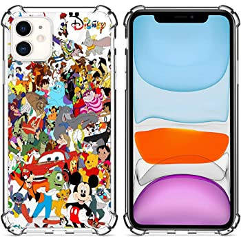 Amazon Com Disney Collection Case Clear For Iphone 11 6 1 Inch Cute Designed Pattern Mickey Mouse Wallpaper Hard Pc Back Cover With 4 Corner Protection Slim Thin Fit Disney Family