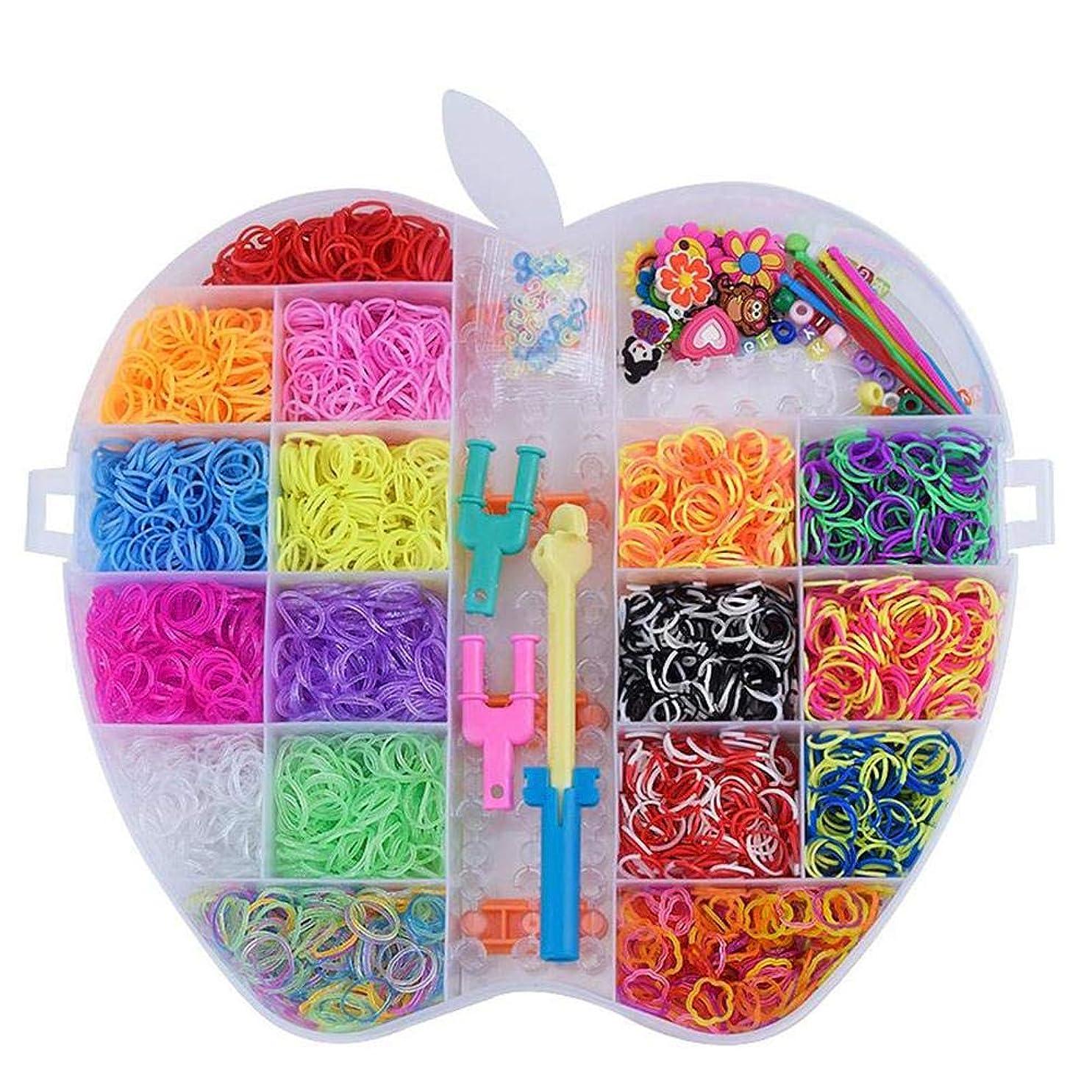 舗装する請願者ペンダントBrill(ブリーオ)?DIY編みおもちゃ虹ゴムバンド詰め替え織機キット子供6000PCS