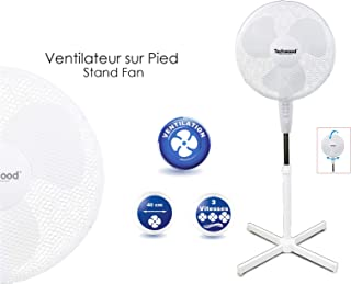 Stand Ventilateur Avec Fonction d/'inclinaison 3 vitesses avec veilleuse ø40cm