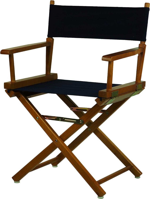 Casual Home 18-Inch Director Chair Honey Oak Frame, Navy bluee Canvas