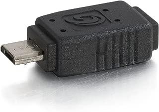 C2G 27367 USB Adapter - USB 2.0 Mini-B Female to Micro-USB B Male, Black