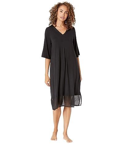 Donna Karan Modal Spandex Sleepwear Long Sleepshirt (Black) Women