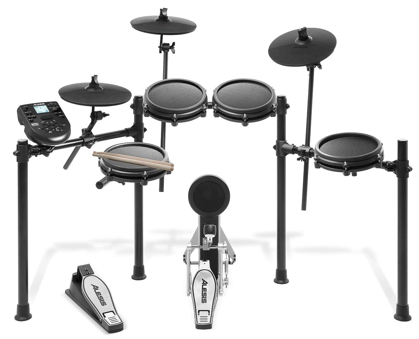 愛人独創的確認するAlesis 電子ドラム 8インチ?メッシュヘッド採用ドラムパッド 10インチ?シンバル Nitro Mesh Kit