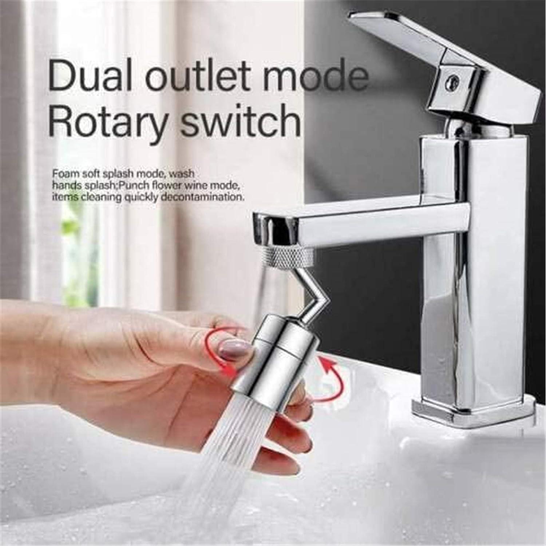 1pc 1//2//4 Pcs Universal Splash Filter Faucet 720 Degree Rotatable Faucet Sprayer Head 4-Layer Filter Oxygen-Enriched Foam Leakproof Faucet