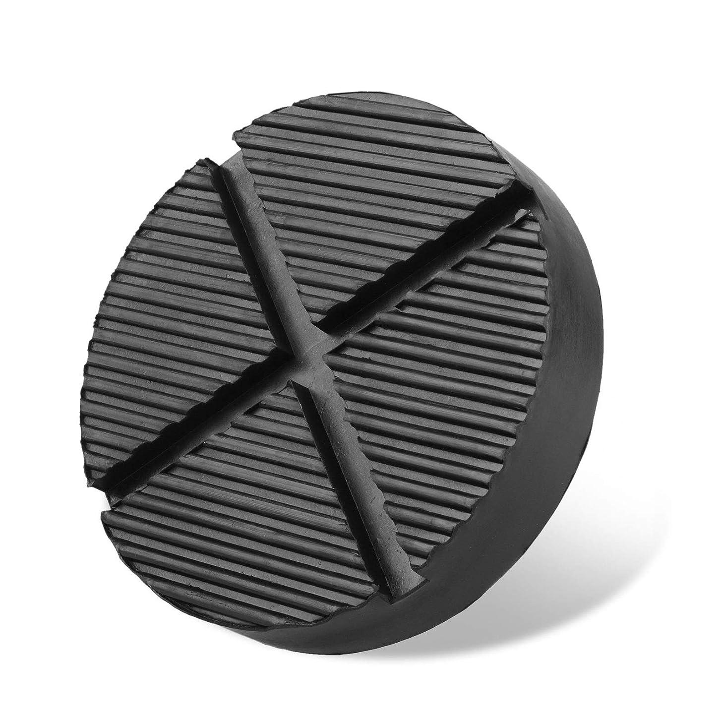 EEEKit Cross Slotted Frame Rail Floor Jack Disk Rubber Pad for Car for Pinch Weld Side Universal Jack, Black