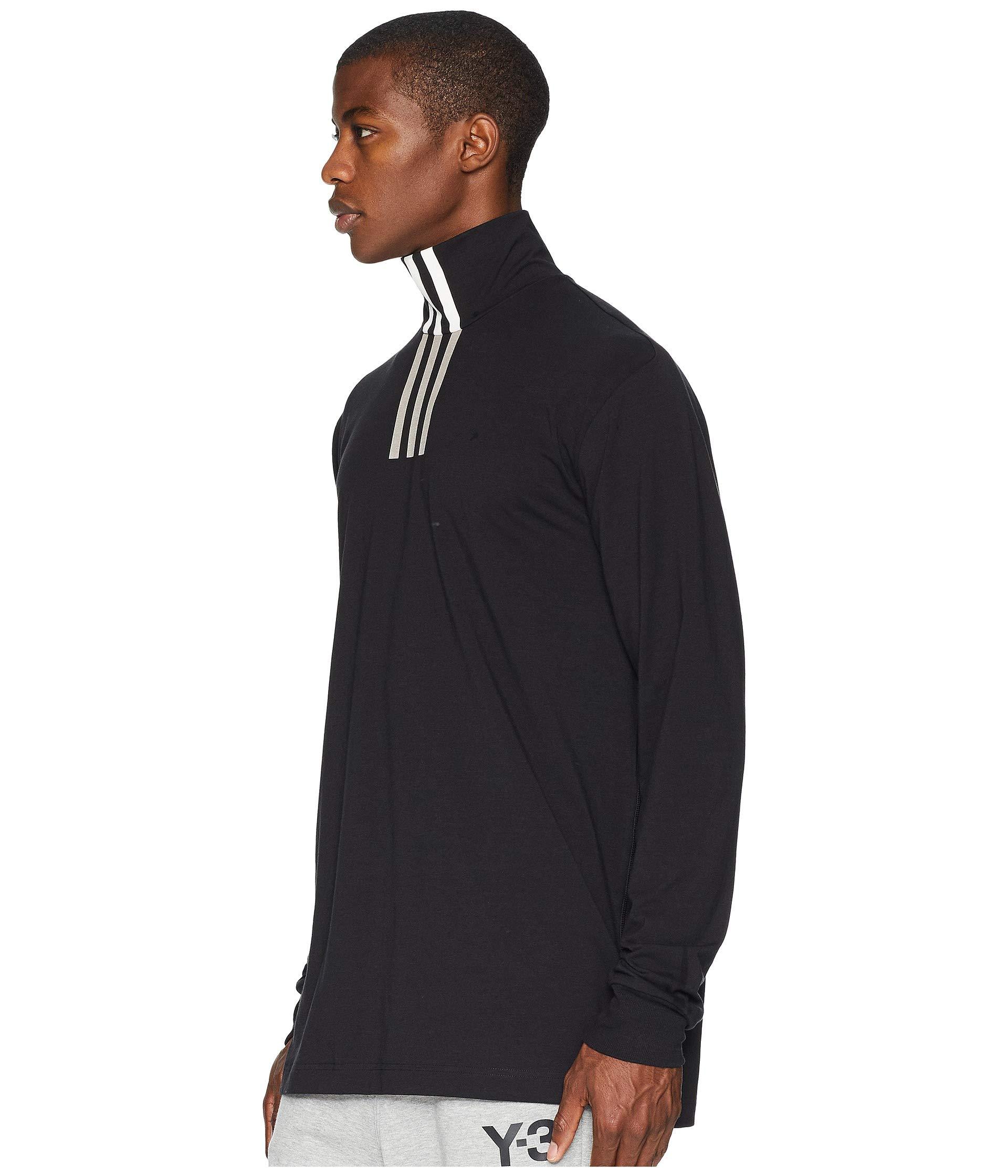 White 3 Black Adidas Sleeve Tee Unisex Stripe Neck Y 3 Yamamoto Long core Yohji High By XqHXZrO
