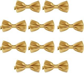 DonDon Set de 10 Pajarita para hombre de 12 x 6 cm ajustable y lista para usar