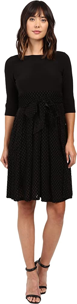 Velvet Burnout Party Dress Fit and Flare