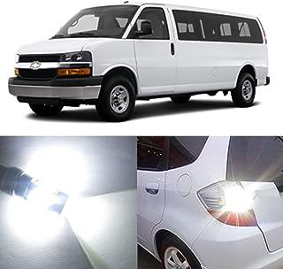 Alla Lighting 2pcs Super Bright 6000K Xenon White 3157 3157KX 3157K LED Bulbs Back-Up Reverse Front Rear Turn Signal Brake Stop Light Light Lamps for 2003~2017 Chevrolet Chevy Express 1500 2500 3500