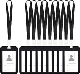 Porte-Carte D'identité Badge, 10 Pièces Verticale Transparent Tag Badge Holders avec Cordon pour Exposition Entreprise Bur...