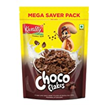 Kwality Choco Flakes, Made with Whole Wheat, Zero% Maida, Source of Protein and Fibre (1Kg, Pack of 1)