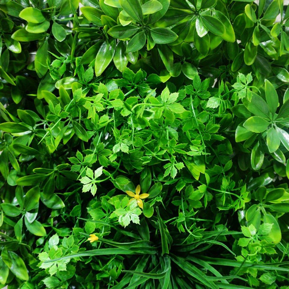 WENZHE - Plantas Artificiales Colgantes de Hojas de Vino, Hiedra Falsa, para Interiores, Exteriores, Decoraciones de césped Verde Realista, 50 x 50 cm: Amazon.es: Jardín