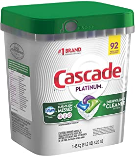 Cascade Platinum Dishwasher Detergent 92 Fresh Scent Action Pacs Net Wt 1.45kg