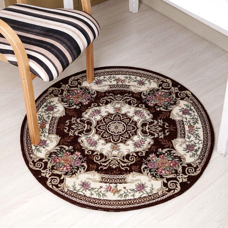 Floor Mat Non-slip Mat Study,Round,Cushion For Computer Chair  Tea Table Mats Foot Pad Doormat-B 90x90cm(35x35inch)