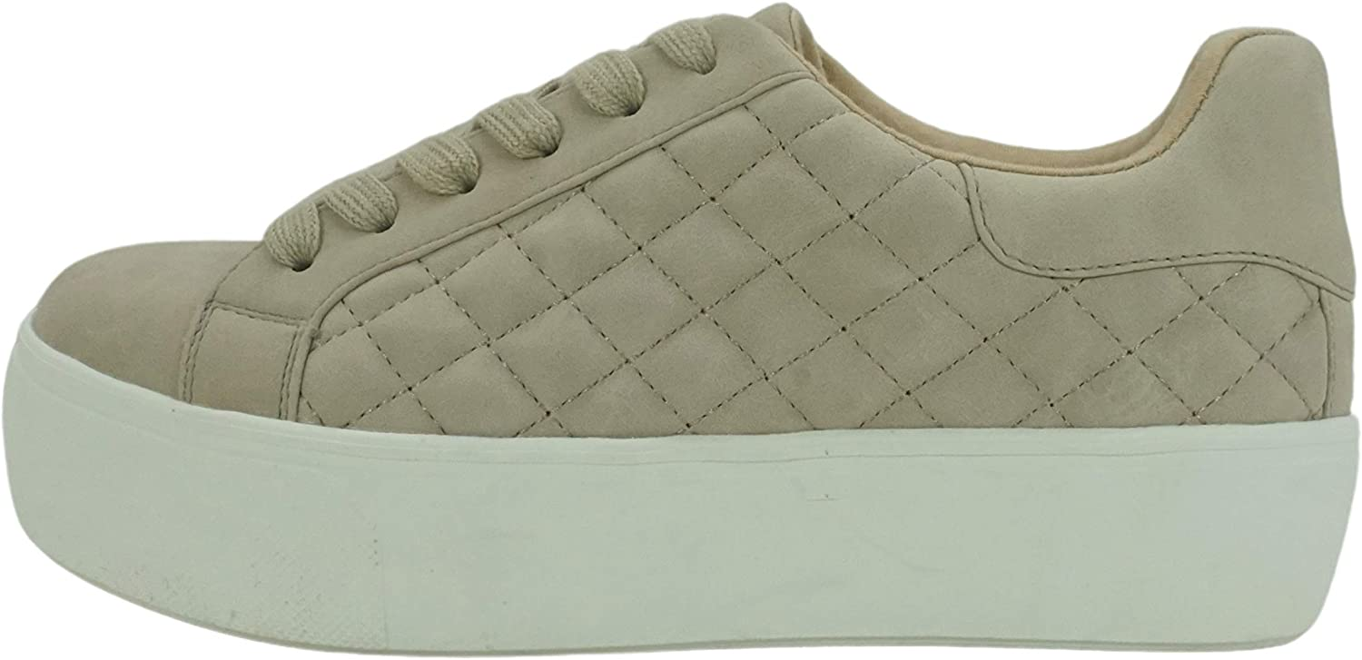 Soda Huffman~ Women Slip On Diamond Quilted Double Deck Sole Fashion Sneakers with Padded Comfortable Sock