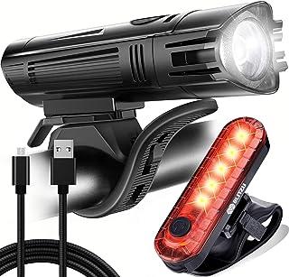 BLITZU Gator 450 Lumens Bike Lights Front and Back Set, Headlight and Tail Rear Light, USB...
