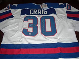 Jim Craig Olympic 1980 Gold Do You Beleive In Miracles,Usa JSA Coa Autographed Signed Memorabilia Jersey