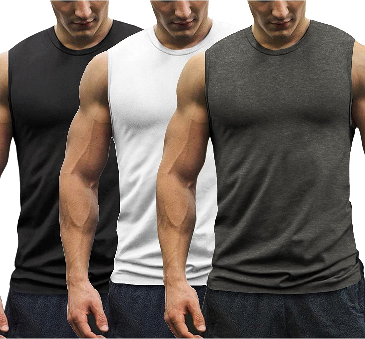 COOFANDY Men's 3 Pack Workout Tank Muscle Ranking TOP9 Tee Bodybuild OFFicial mail order Tops Gym