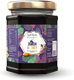Societe Naturelle - Jamun Organic Honey - 340gms / Rich in VIT. & Minerals / Certified Honey / Pure Raw Unpasteurized Unpr...
